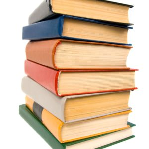 stack-of-books-isolated-on-white-background